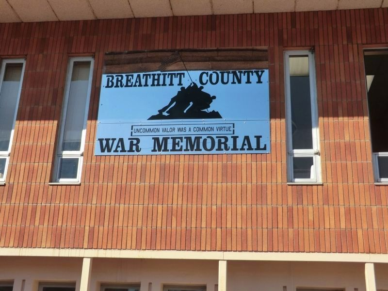 Breathitt County War Memorial Plaza image. Click for full size.