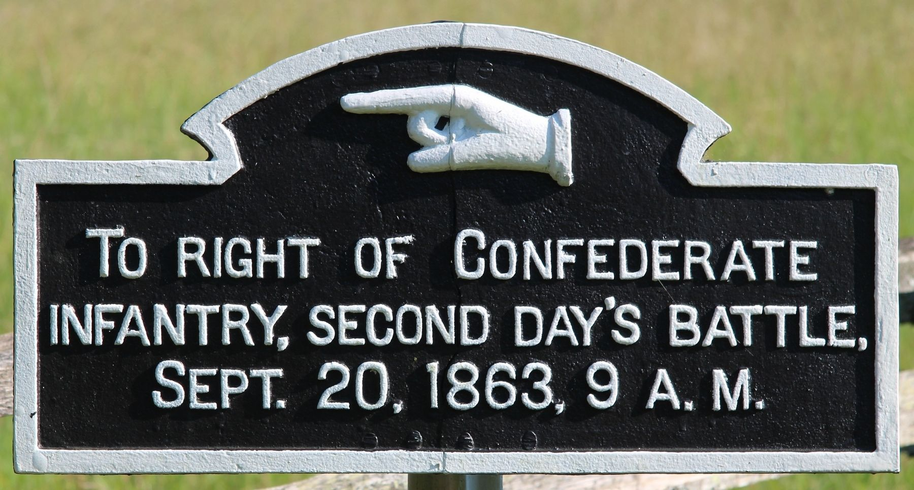 To Right of Confederate Infantry Marker image. Click for full size.