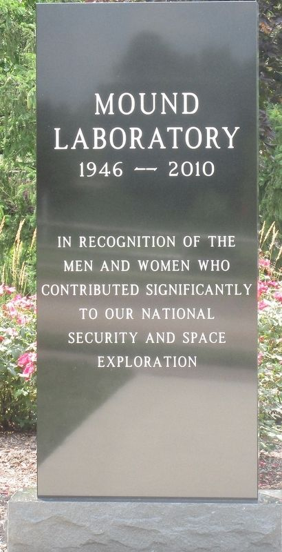 Mound Laboratory (1946- 2010) Marker image. Click for full size.