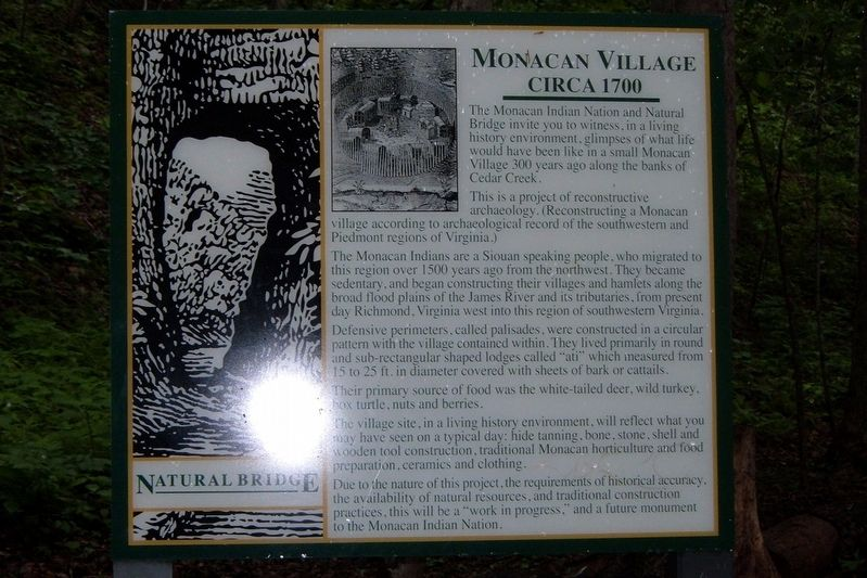 Monacan Village Marker image. Click for full size.