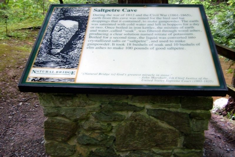 Saltpetre Cave Marker image. Click for full size.
