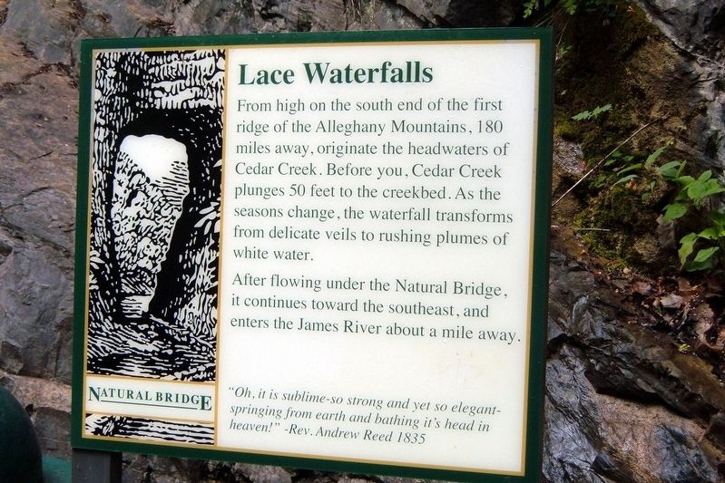 Lace Waterfalls Marker image. Click for full size.