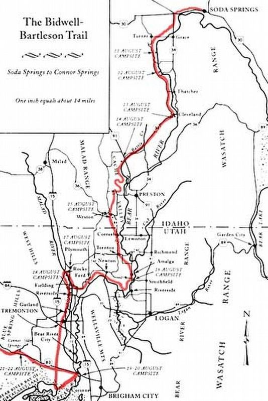 Bidwell/Bartleson Trail. Soda Springs to Connor Springs image. Click for full size.