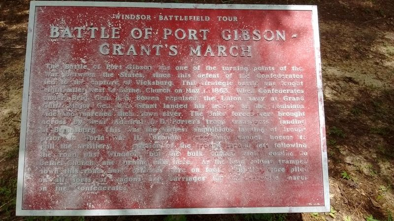 Battle of Port Gibson – Grant's March Marker image. Click for full size.