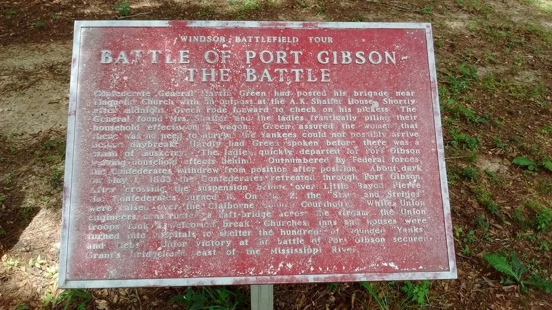 Battle of Port Gibson – The Battle Marker image. Click for full size.
