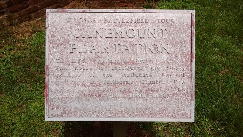 Canemount Plantation Marker image. Click for full size.
