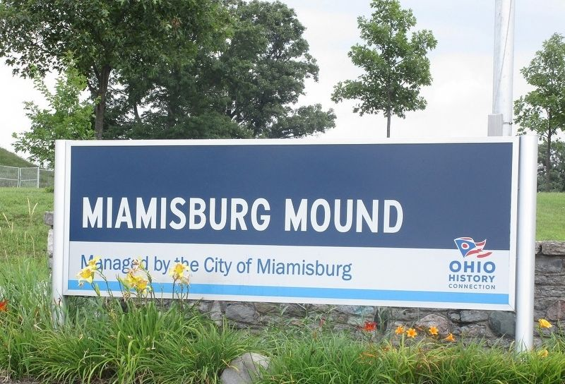 Miamisburg Mound Marker image. Click for full size.