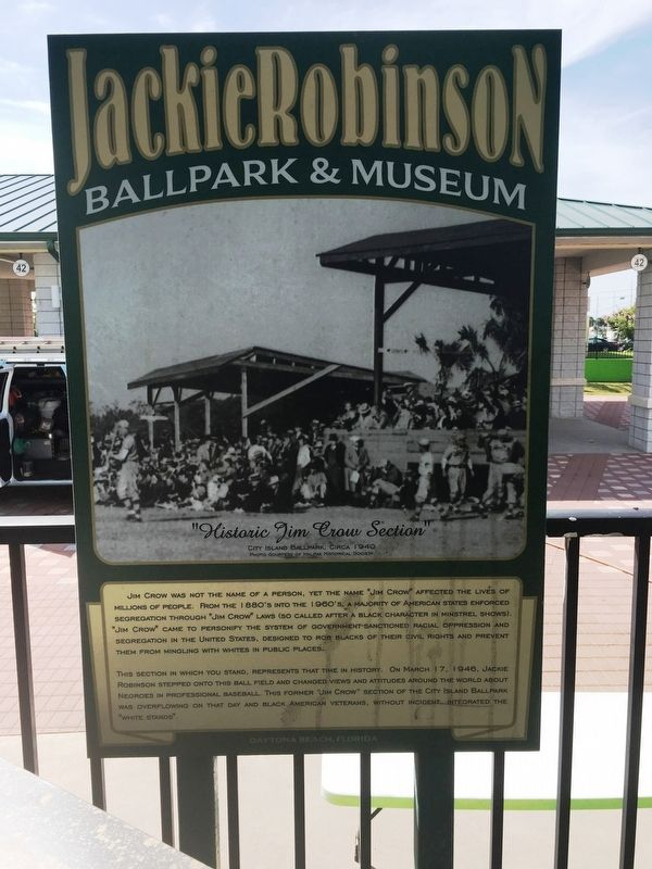 Historic Jim Crow Section Marker image. Click for full size.