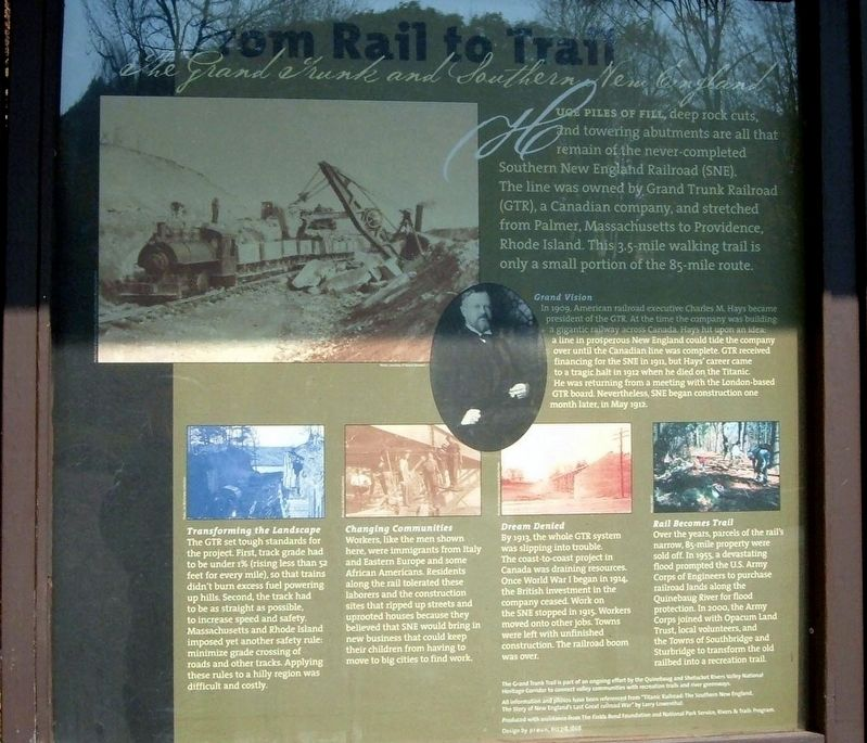 From Rail to Trail Marker image. Click for full size.