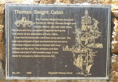 Thomas Sleight Cabin Marker image. Click for full size.