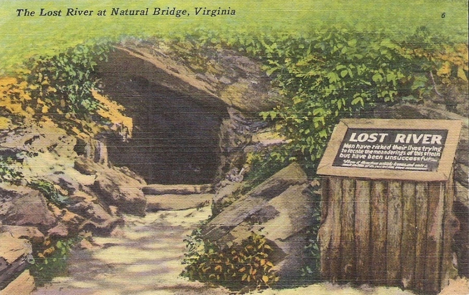 <i>The Lost River at Natural Bridge</i> image. Click for full size.