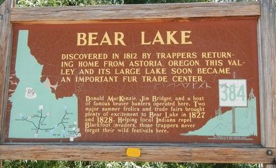 Bear Lake Marker image. Click for full size.
