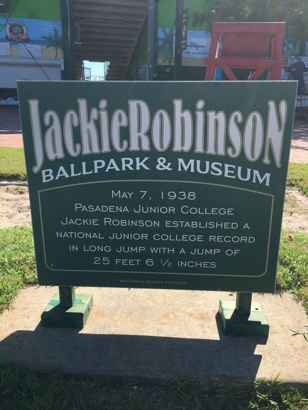 Jackie Robinson Marker (Reverse Side) image. Click for full size.
