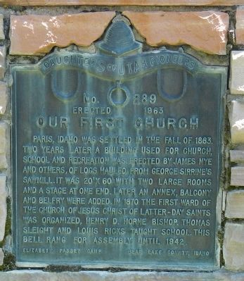 Our First Church Marker image. Click for full size.