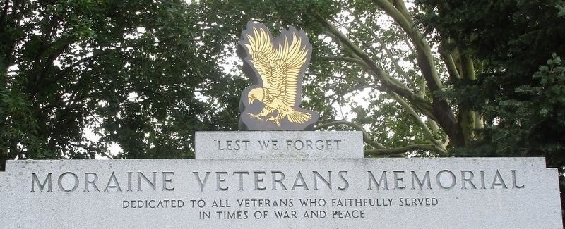 Moraine Veterans Memorial Marker image. Click for full size.