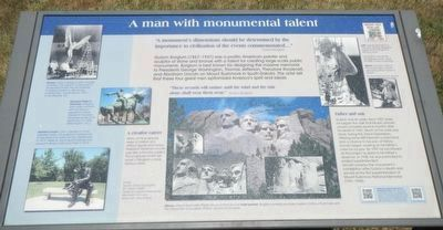 A man with monumental talent Marker image. Click for full size.