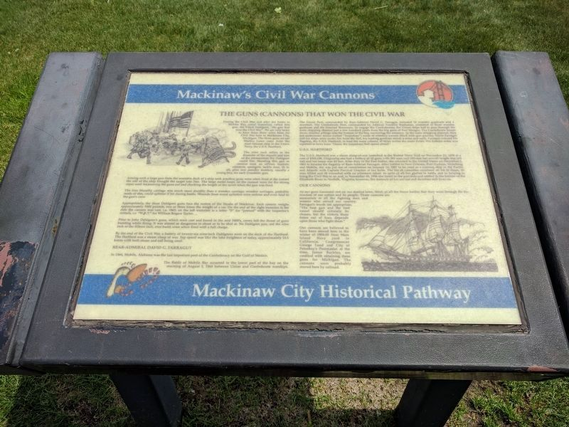 Mackinaw's Civil War Cannons Marker image. Click for full size.