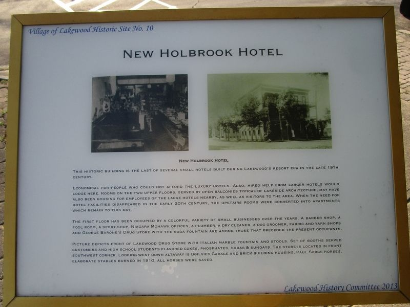 New Holbrook Hotel Marker image. Click for full size.