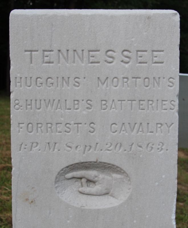 Huggins', Morton's & Huwald's Tennessee Batteries Marker image. Click for full size.
