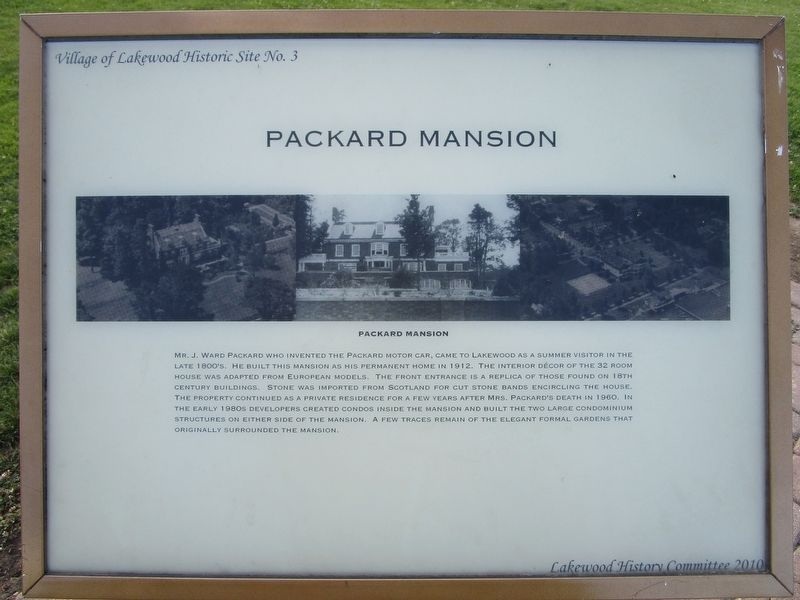 Packard Mansion Marker image. Click for full size.