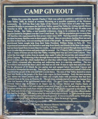 Camp Giveout Marker image. Click for full size.