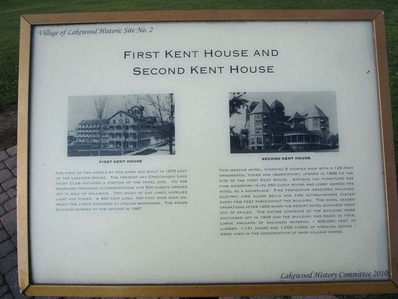 First Kent House and Second Kent House Marker image. Click for full size.