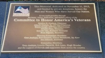 Honor America's Veterans Marker image. Click for full size.