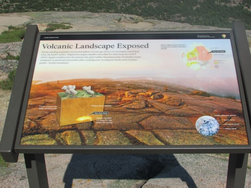 Volcanic Landscape Exposed Marker image. Click for full size.