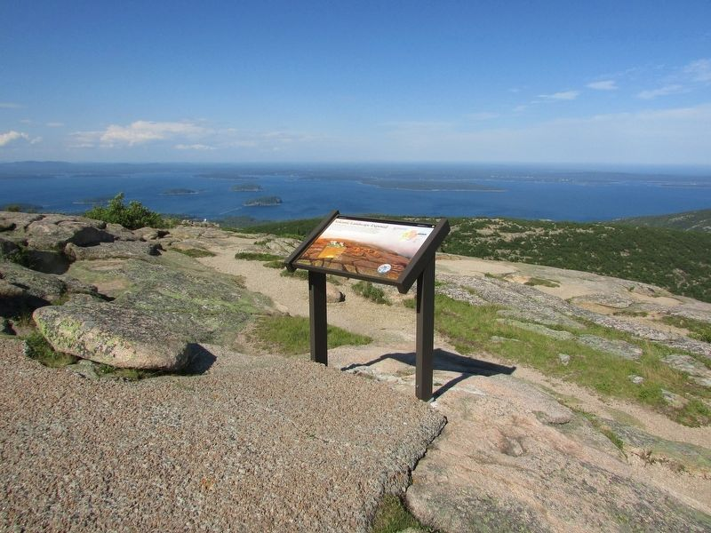 Marker on Cadillac Mountain image. Click for full size.