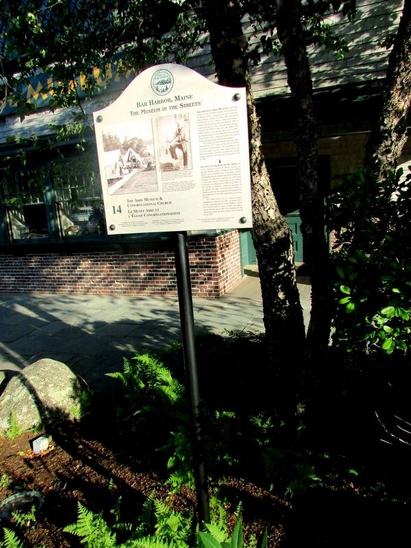 The Abbe Museum & Congregational Church Marker image. Click for full size.
