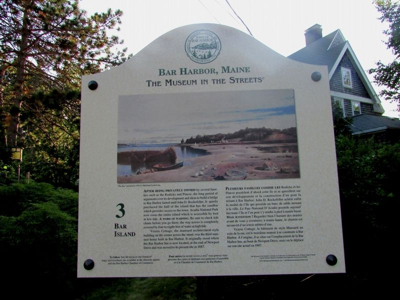 Bar Island Marker image. Click for full size.