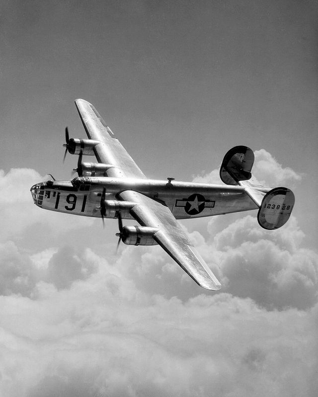 A Consolidated B-24 Liberator from Maxwell Field, Alabama. image. Click for full size.
