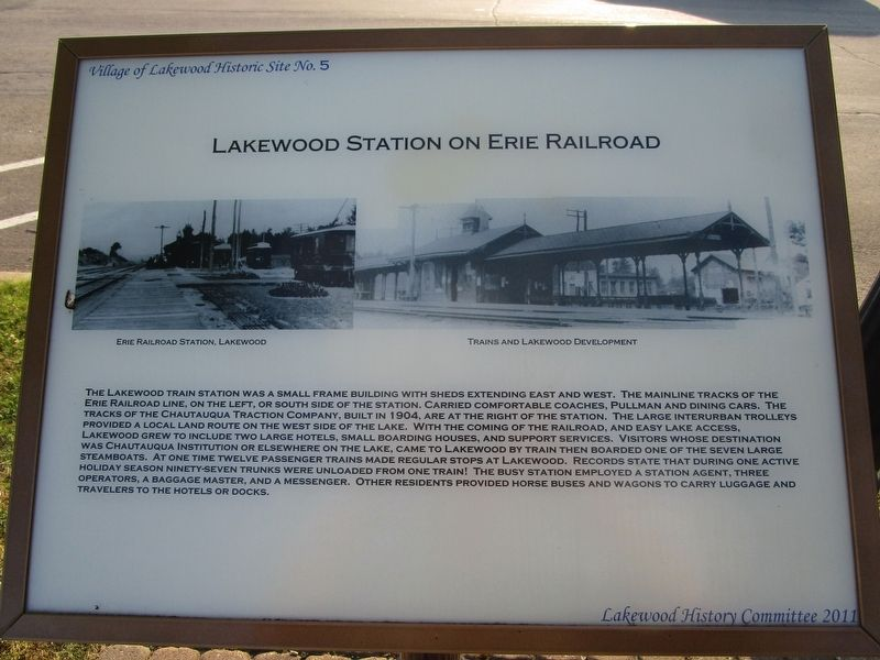 Lakewood Station on Erie Railroad Marker image. Click for full size.