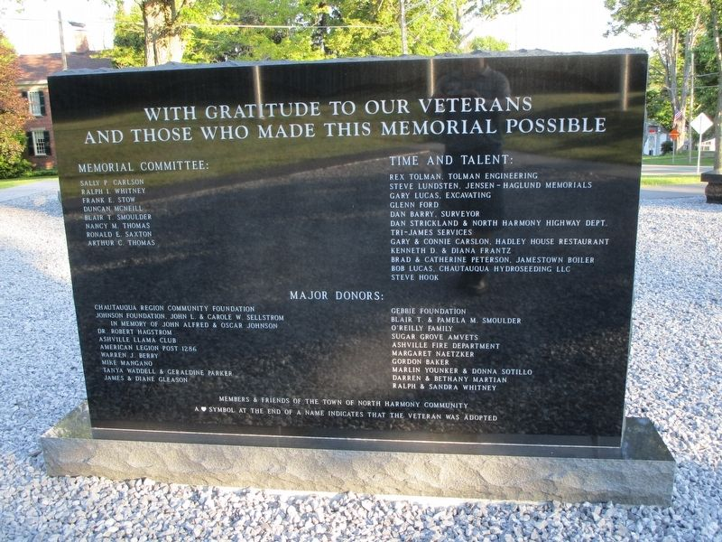 North Collins Veterans Memorial image. Click for full size.