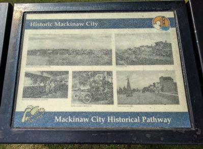Historic Mackinaw City Marker image. Click for full size.