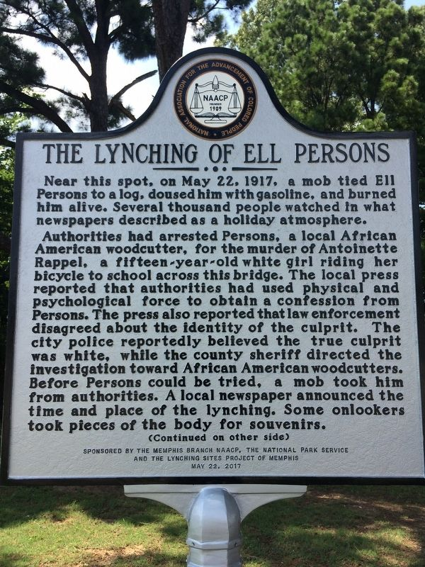 The Lynching of Ell Persons Marker image. Click for full size.