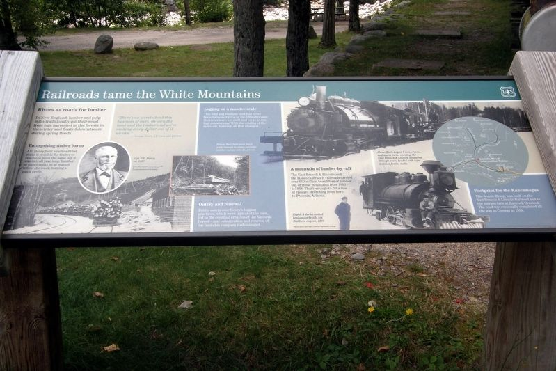 Railroads tame the White Mountains Marker image. Click for full size.