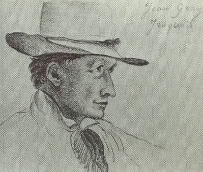 Father Nicholas Point's sketch of John Gray image. Click for full size.
