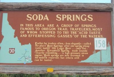 Soda Springs Marker image. Click for full size.