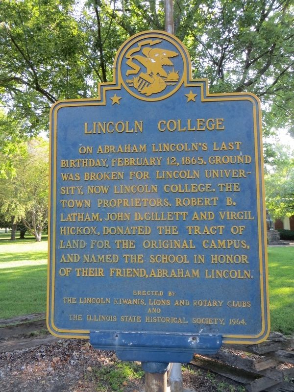 Lincoln College Marker image. Click for full size.