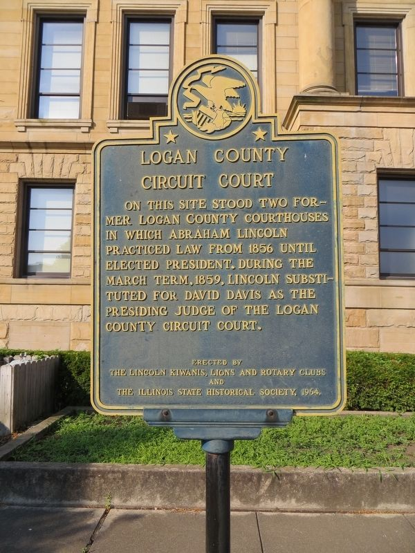 Logan County Circuit Court Marker image. Click for full size.