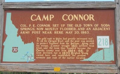 Camp Connor Marker image. Click for full size.
