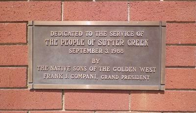 Fire Station Dedication Plaque image. Click for full size.