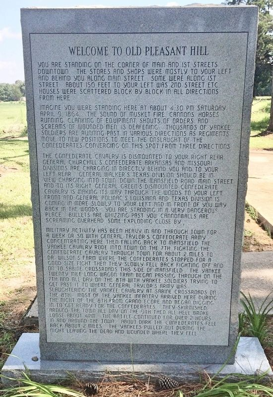 Welcome to Old Pleasant Hill Monument (Front) image. Click for full size.