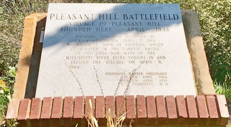 Pleasant Hill Battlefield Marker image. Click for full size.