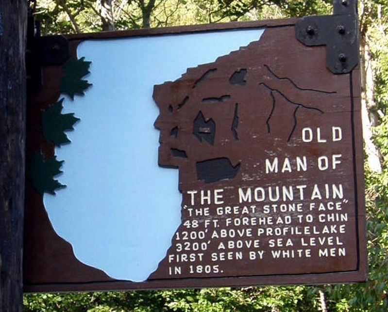 Old Man of the Mountain Marker image. Click for full size.