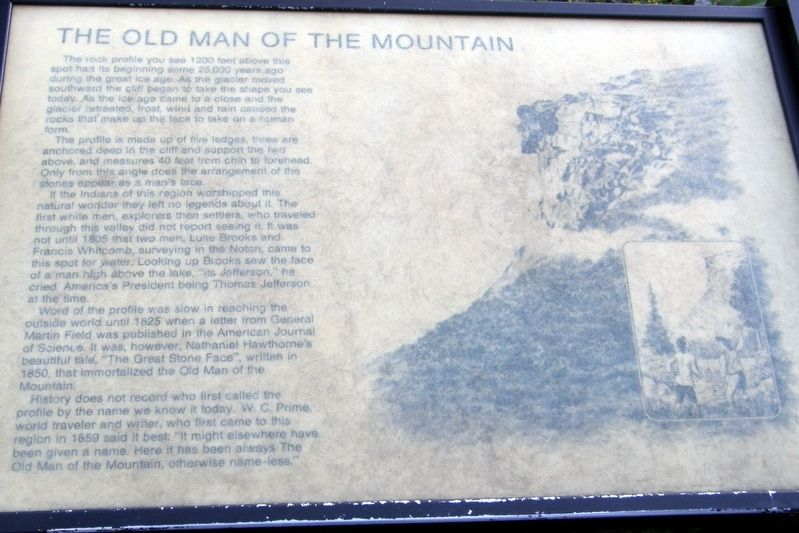The Old Man of the Mountain Marker image. Click for full size.