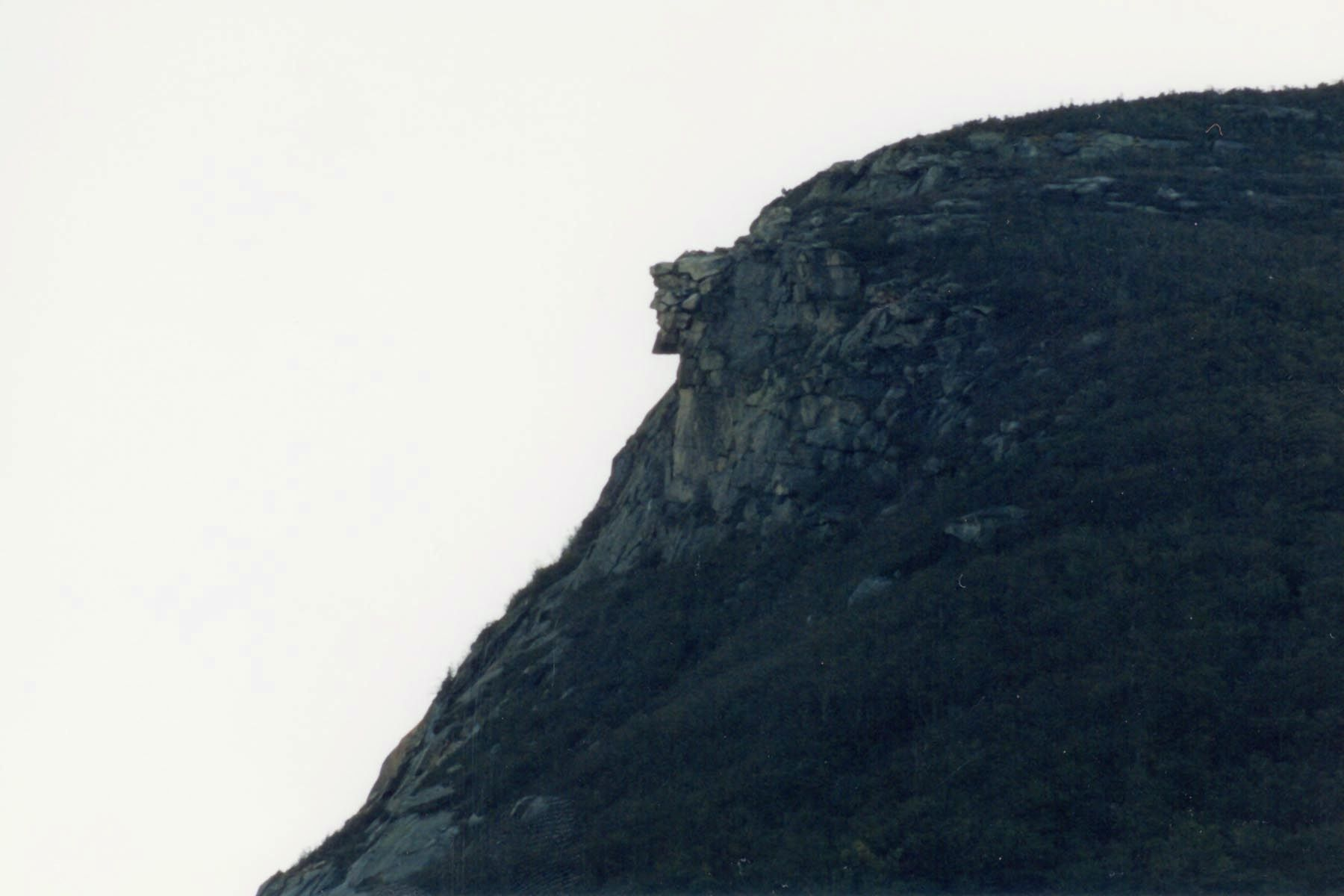 The Old Man of the Mountain image. Click for full size.