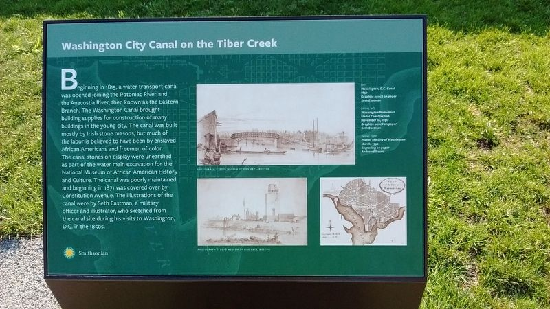 Washington City Canal on the Tiber Creek Marker image. Click for full size.