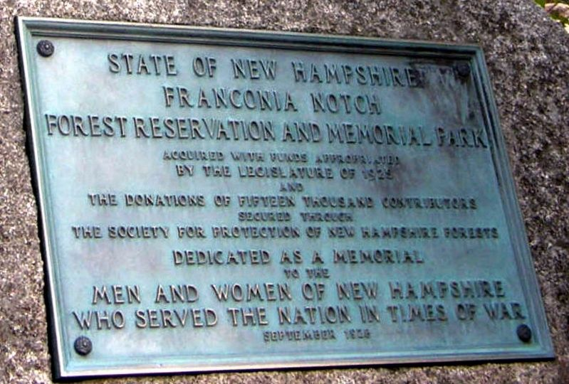 Franconia Notch Marker image. Click for full size.